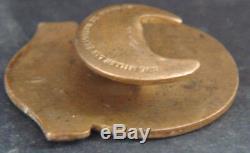 WREXHAM FC Rare 1936-37 SUPPORTERS CLUB Badge Button hole Maker W. MILLER B'ham