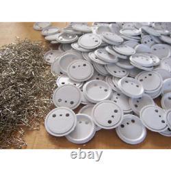 1000pcs 1-3/4 (44mm) Bouton À Épingle Blanche Pour La Machine Badge Maker