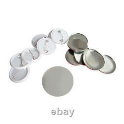 1000pcs 25-75mm Blank Abs Pin Badge Fournitures De Bouton Pour La Machine Badge Maker