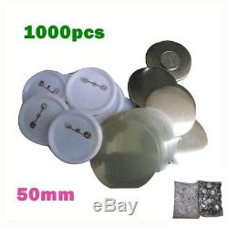 1000pcs 50 MM En Blanc Pin Fournitures Bouton Badge Pour Machine Maker Badge