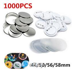 1000pcs Blank Badge Pièces Pour Machine Maker Bouton 44/50 / 56 / 58mm Fournitures Rondes