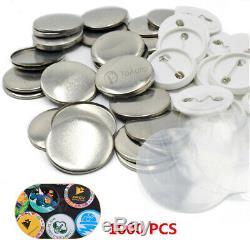 1000pcs Bouton Blank Badge Pièces Fournitures Pour Pin Bricolage Maker Machine 25/32 / 37mm