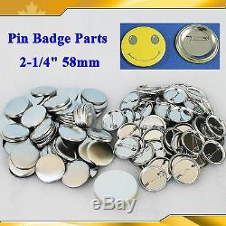 1000sets 2-1 / 4 58mm Pin Badge Bouton Pièces Fournitures Bouton Fabricant Diy Vente Chaude