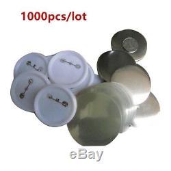1000x1-1 / 4 (32mm) Bouton Vide Epingle Fournit Des Pièces Pour Machine Maker Badge