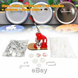 100% Nouveau Bouton Machine Maker Badge Poinçonneuse 1 Cercle Cutter + 500 Pièces