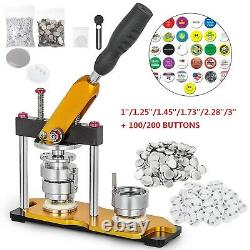 1/1.25/1.45/1.73/2.28/3 Button Badge Maker Rotate + 100/200pcs Boutons Us