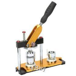 1 / 1,25 / 2,25 Bouton Mise À Jour Rotation Badge Maker Machine Manuelle + 100 Boutons Bricolage