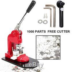 1 / 1,25 / 2,28 Bouton Maker Badge Poinçon Machine De Presse 1000 Pièces Cutter Cercle