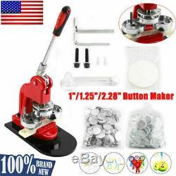 1 / 1,25 / 2,28 Bouton Pivotée Maker Badge Punch Machine De Presse Avec 1000 Boutons