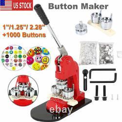 1/1.25/ 2.28 Boutonneur Badge Presse Circle Cutter Fabrication Manuelle Machine