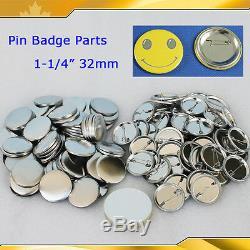 1-1 / 432mm 1,000sets Tous Les Fournitures De Pièces De Bouton De Badge En Métal Pour Machine De Fabricant