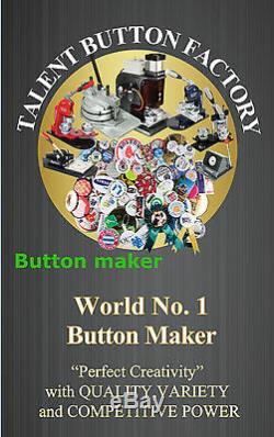1-1 / 4 MM Kit! N3 32mm Bouton Maker + 100 Tous Métal Epingle + Cercle Cutter Bricolage