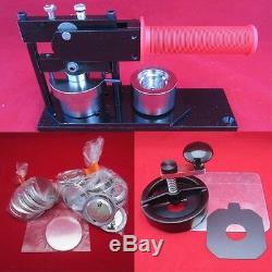 1-1 / 4 Pouces 1,25 Tecre Badge Bouton Maker Machine + Boutons + Cutter Set Complet