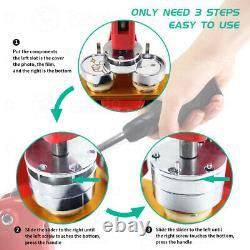1.25 2.28 Bouton Maker Punch Press Machine 1000 Pin Insigne Parts Circle Cutter