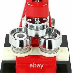 1.25 Button Maker Punch Press Machine 1000 Pin Badge Parts + Circle Cutter Etats-unis