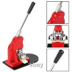 1.25 Fast Badge Bouton Maker Punch Press Machine 1000 Pièces Et Cutter Circle USA