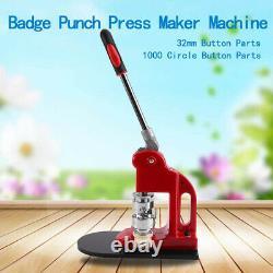 1.25 Fast Badge Button Maker Punch Press Machine 1000 Pièces & Circle Cutter États-unis