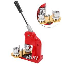 1.25 Machine De Fabrication De Boutons De 32mm Bricolage Rond Épingle Insigne Presse Machine Avec 1000 Bouton