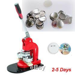 1 25mm Badge Button Maker Machine Press + 1000 Pièces + Cercle Cutter Livraison Us