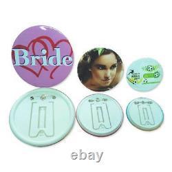 1 (25mm) Bouton Maker Machine Badge Press+500 Button Supplies+1x Circle Cutter