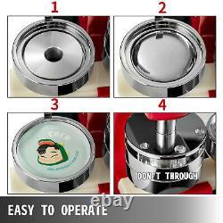 1,73 44mm Bouton Badge Maker Machine De Presse + 1000 + Pièces Cercle Cutter Expédition Us