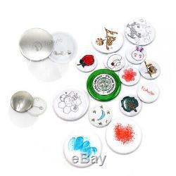 1,73 44mm Bouton Maker Machine Badge Poinçonneuse & Cercle Cutter Bricolage Cadeaux De Noël