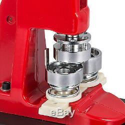 1.73 44mm Button Maker Machine + 1000 Boutons Cercle Badge Poinçon Presse Pin Us