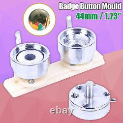 1.73'' 44mm Diy Interchangeable Die Moulds For Pro Button Maker Badge