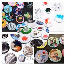 1 Bouton Badge Maker Punch Press Machine +300pcs Round Pin Parts+circle Cutter