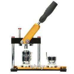 1 Machine D'insigne De Fabricant De Bouton 25mm Avec Les Pièces De Bouton De Cercle De Cercle De 100 Ensembles Tournent