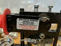1 Pouce Bouton Tecre Pin Badge Maker Machine + 750 Boutons Pièces + Bonus