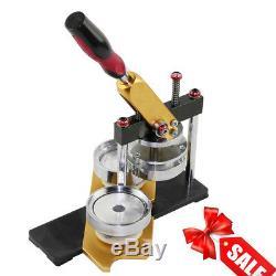 1pc 58mm Bouton Badge Maker Poinçon Cercle Presse Cutter Métal Punch Machine USA
