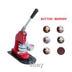 25/32/44/58mm Bouton Badge Maker Punch Press Machine Die Mould + 1000 Pièces