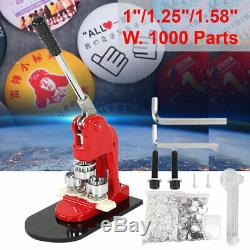 25/32 / 58mm Bouton Maker Punch Machine De Presse De Moule Die Avec Pin Pièces Badge