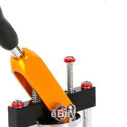 25/58 / 75mm Bouton Main Appuyez Sur Rotation Badge Maker Bouton Faire Machine + Dies Kit