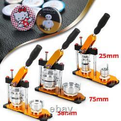 25/58/75mm Button Maker Machine Diy Badge Avec 100 Boutons Circle Punch Press Pin