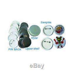 25 MM Bouton Badge Maker Badge Machine Making Kit + 1000 Fournitures Bouton États-unis