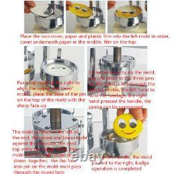 25mm Boutonnier Insigne Presse Machine Cutter Cutter Pinback Boutons A