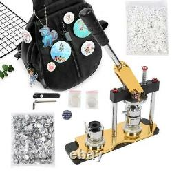 25mm Rotation Button Maker Machine Badge Press With 1000pcs Buttons And 3 Dies