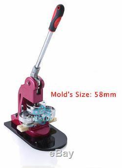2-1 / 4 Po (58 Mm) Bouton Bricolage Ronde Badge Maker Punch Machine De Presse Avec Moule