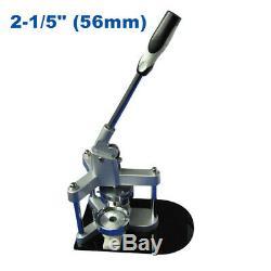 2-1 / 5 (56 Mm) Ronde En Aluminium Badge Maker Machine Pour La Fabrication De Boutons De Bricolage Badge
