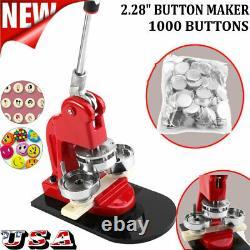 2,28 58mm Bouton Maker Machine Badge Poinçonneuse 1000 Pièces Outil Cercle Cutter