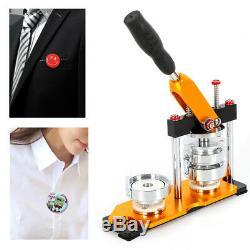 2.28 (58mm) Button Maker Machine + 100 Boutons Circle Badge Punch Press Pin USA