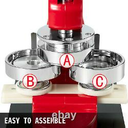 2.28 58mm Button Parts Maker Badge Punch Press Machine 1000 Pièces Circle Cutter
