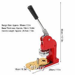 2.28 Badge Bouton Maker Machine Bricolage Rond Épingles Insignes Kit Avec 500 Boutons Montage