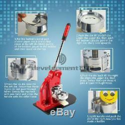 2.28 Bouton Badge Maker Punch Machine De Presse 100 Pcs Pièces & Cercle Cutter