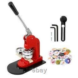2.3 Pouces Bouton Badge Maker Punch Machine + 1000 Pièces De Coupe-cercle