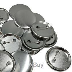 300sets Fournitures Bouton Métal Badge Pièces Pour Round Pin 44-75mm Maker Machine