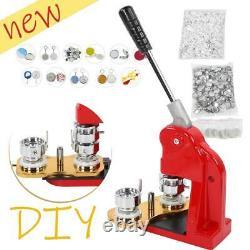 32mm Kit De Presse Badge Bouton Maker 1000 Pcs Bricolage Circle Cutter Machine Manuelle