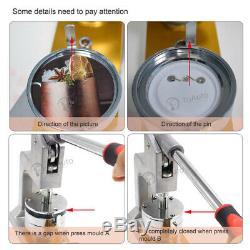 37/44 / 50 / 58mm Bouton Maker Badge Making Machine Pin Poinçonneuse Avec Cutter Cercle